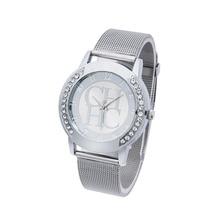 купить Reloj Mujer 2019Women Simple Classic Wristwatches Fashion Women Crystal Silver Stainless Steel Analog Quartz Wrist Watch relogio дешево