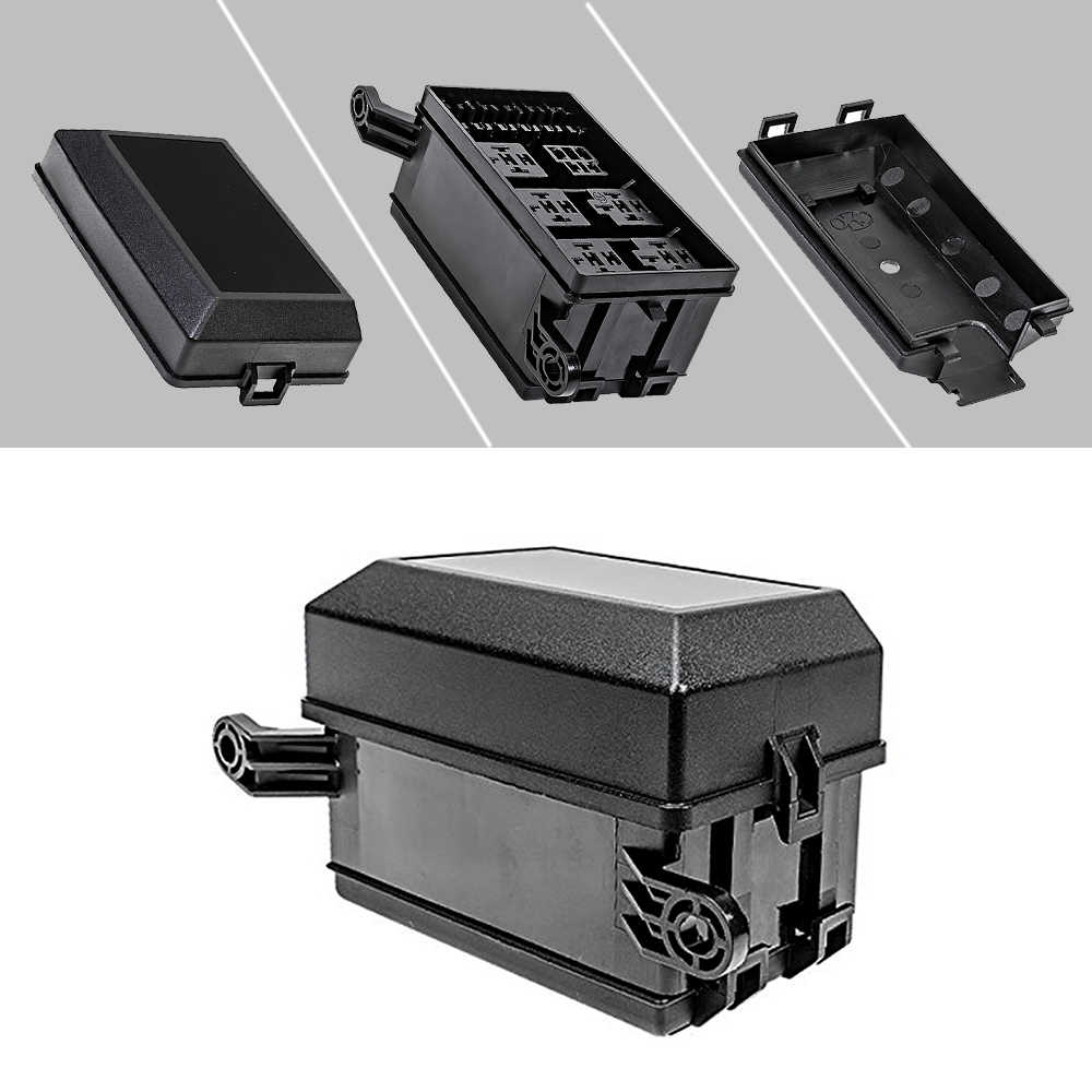 12 slot relay box 6 relays 6 atc ato standard fuses holder block with [ 1000 x 1000 Pixel ]