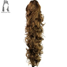 Desire for hair 30 inch long curly claw clip ponytail heat resistant synthetic hairpieces fake hair extensions charming shaggy tacos curly fashion highlight heat resistant synthetic long ponytail for women