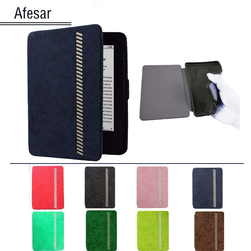 High Grade leather TPU Silicone case cover for Kindle Paperwhite 1 2 3 4 ebook ereader-Luxury book cover for Kindle Paperwhite kindle paperwhite 1 2 3 case e book cover tpu rear shell pu leather smart case for amazon kindle paperwhite 3 cover 6 stylus