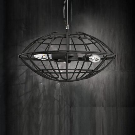 Loft Style Black Cage Vintage Pendant Light Fixtures RH Industrial Lamp Dining Room Bar Iron Hanging Droplight Indoor Lighting creative loft style iron cage vintage pendant light fixtures antique industrial lamp hanging for dining room indoor lighting