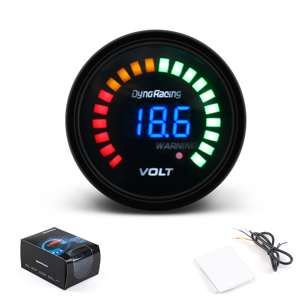 Dynoracing 2 zoll 52mm 12 V Auto Digital <font><b>Voltmeter</b></font> LED Schwarz Fall 8-16 V Volt <font><b>Gauge</b></font> Auto meter TT01456 image