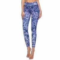 New Design Women Leggings Purple Blue 3D Digital Printed Slim High Waist Fitness Woman Leggins Yoga