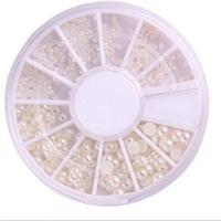 New 3 Sizes Princess Nail Art Rhinestone Decoration Lovely Solid Imitation Pearl Decoration For Nails
