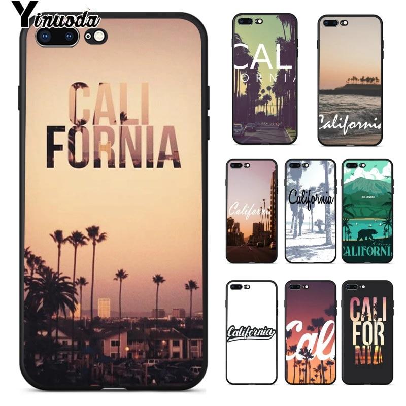 Yinuoda – Coque de téléphone portable de haute qualité, étui de voyage pour les clients de la californie, pour iPhone 8 7 6 6S Plus 5 5s SE XR X XS ...