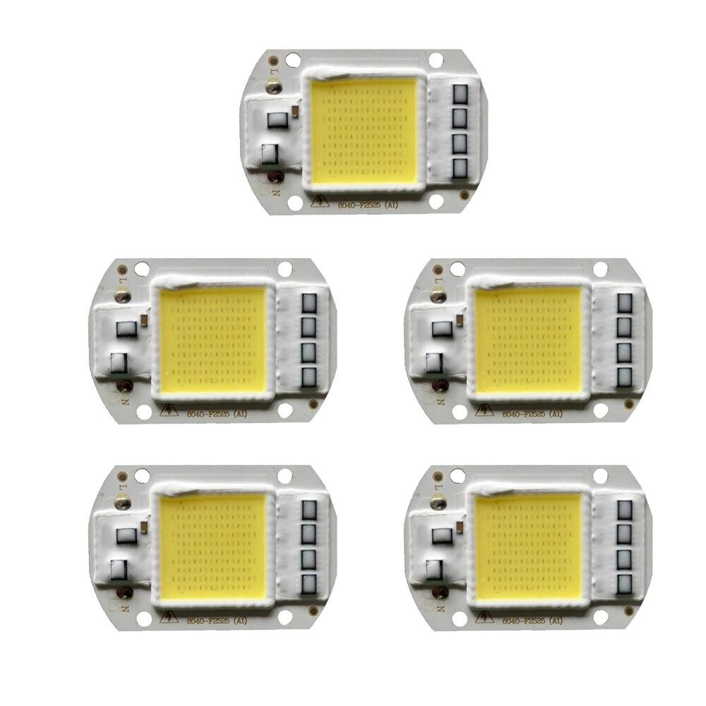 5pcs Cob Led Chip 220v 20w 30w 50w Lamp Chips Input Smart Ic For Diy Floodlight Spot Light