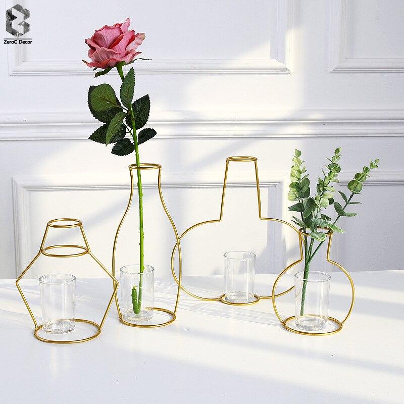 Aliexpress Buy Scandinavian Creative Plant Flower Iron Vase
