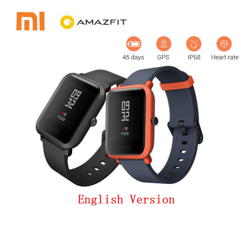 Xiaomi Amazfit Bip Smart Watch English Version Huami GPS Smartwatch Pace Lite Bluetooth 4.0 Heart Rate 45 Days Battery IP68