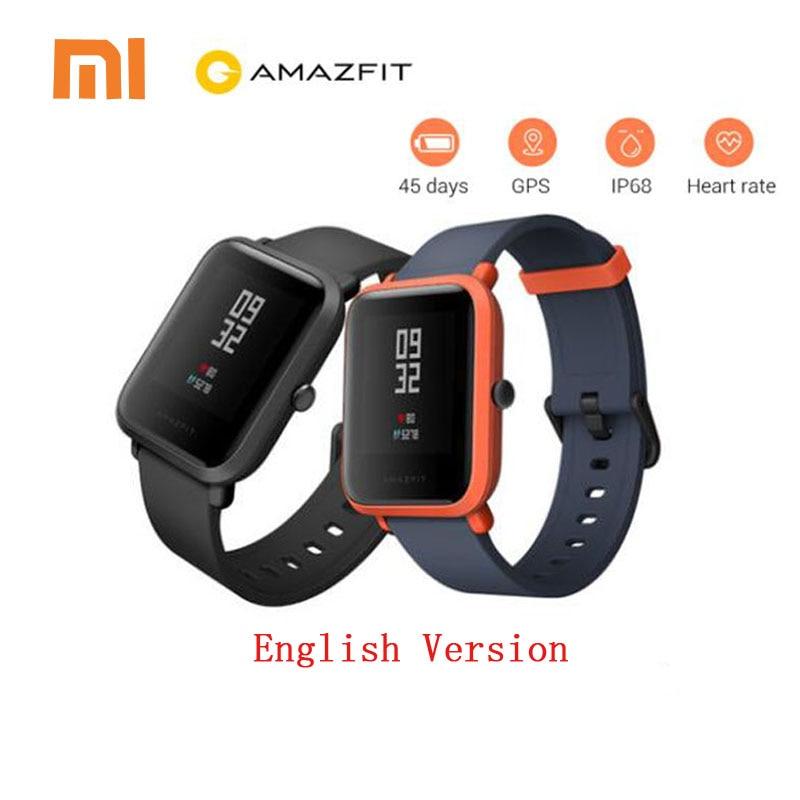 Xiaomi Amazfit Bip Smart Watch English Version Huami GPS Smartwatch Pace Lite Bluetooth 4.0 Heart Rate 45 Days Battery IP68 no 1 f2 ip68 bluetooth smartwatch green