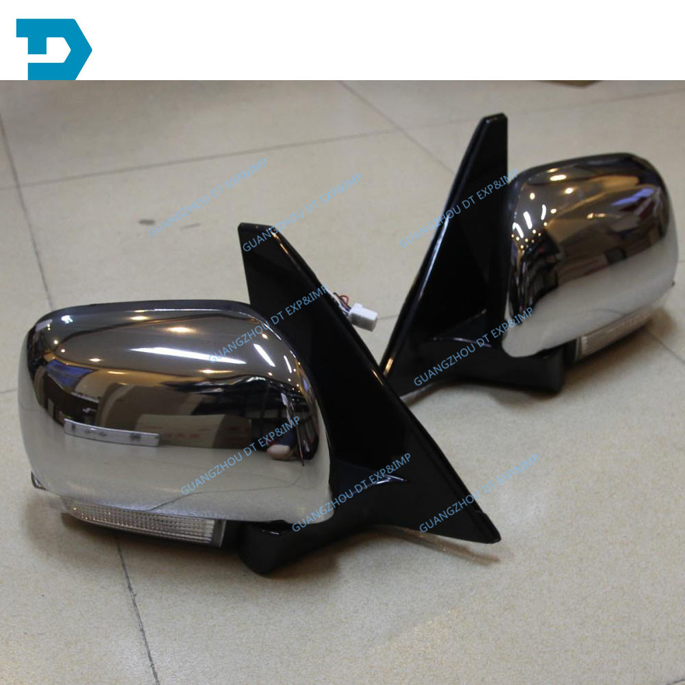 pajero v97 v93 side mirror with light v98 v87 rear mirror with turning signal lamp v98 chrome daker challenger side mirror pajero sport rear mirror native back mirror
