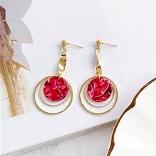 fashion earrings Circular 2018 punk geometry Modern large earing jewelry women