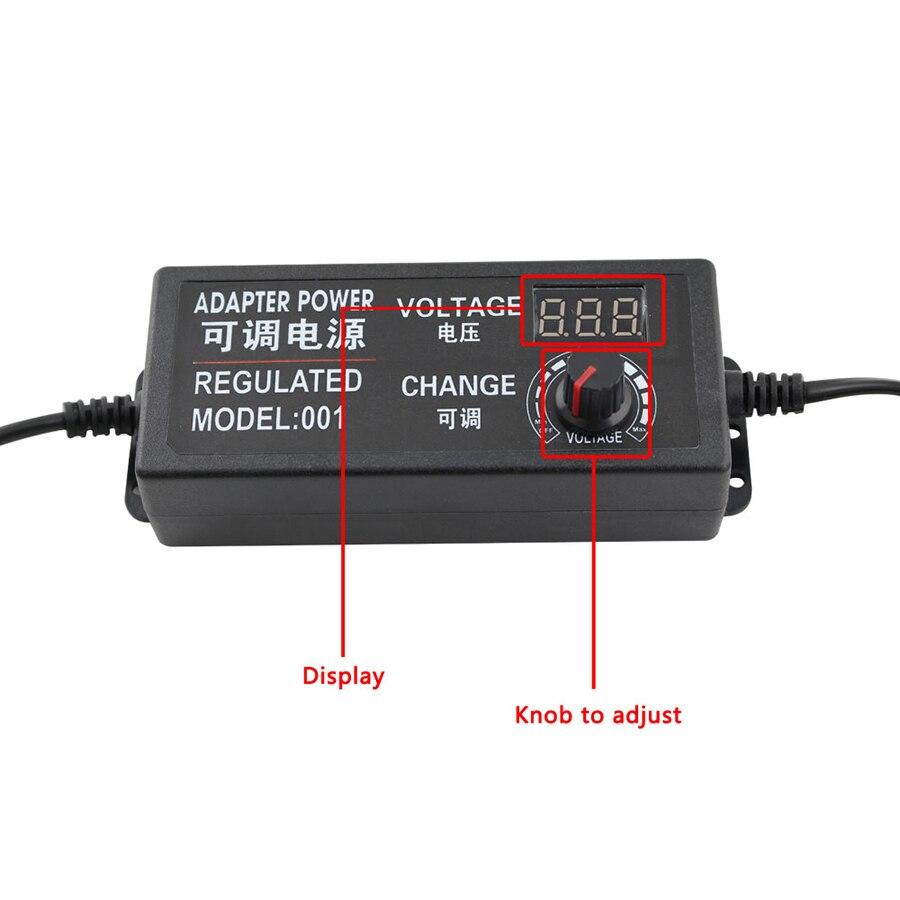 Image 2 - AC DC 110V 240V DC 3V 9V 12V 24V Universal Power Adapter Supply Adjustable Charger Display Screen Power Switching For LED Strip-in Lighting Transformers from Lights & Lighting