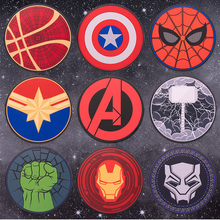 30cm Avengers Superhero Waterproof Circle Round Lockrand Gaming Working Personalized Mouse Mice Pad Mat