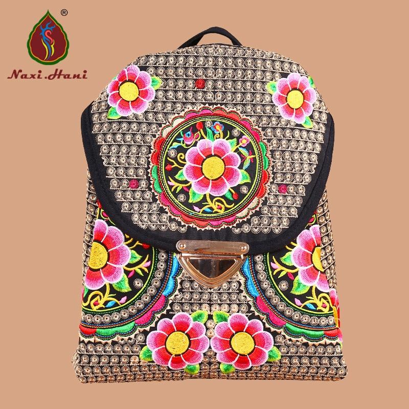 HOT Sales Naxi.Hani boho kirjonta kankaalle naisten reppu Etninen vintage matka reppu rento opiskelijoiden reppu koulujen laukut