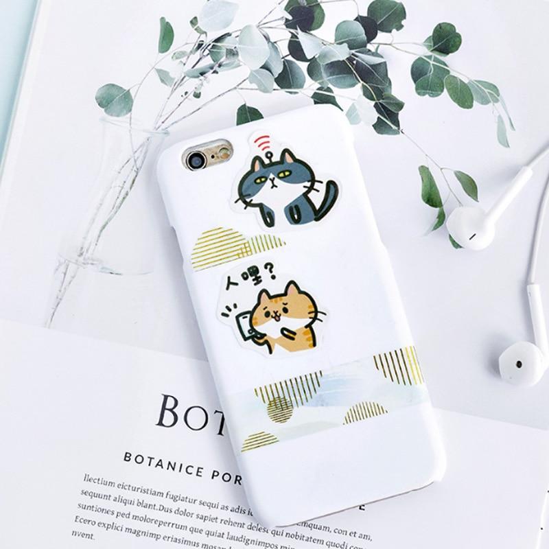 Купить с кэшбэком 45 Pcs/box Little cat Mini Paper Decoration DIY Scrapbook Notebook Album seal Sticker Stationery Kawaii Girl Sticker