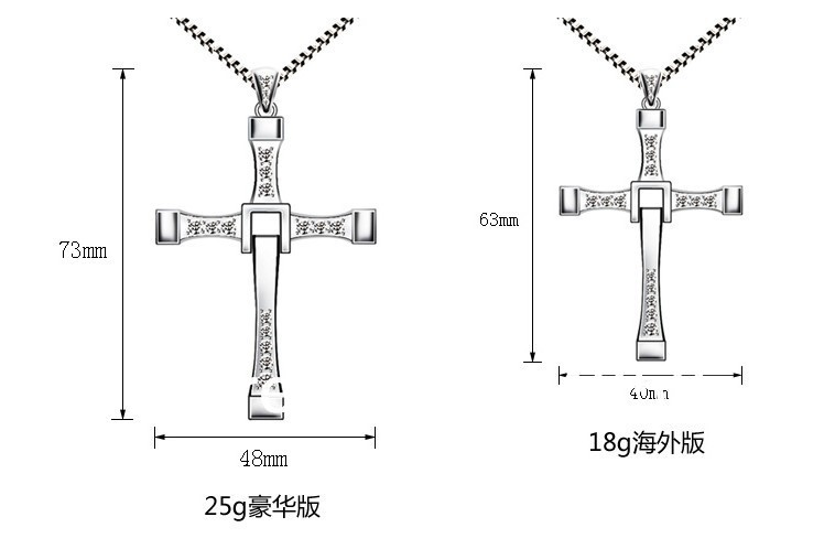 Free Shipping Fast And Furious Paragraph 6 With 925 Sterling Silver Cross  Pendant Necklace, Valentineu0027s Day Gift In Pendant Necklaces From Jewelry ...