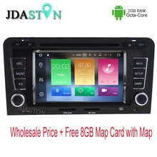 JDASTON 2 DIN Android 6.zero Automotive DVD Participant For AUDI A3 S3 2002-2013 Octa Core 2GB 32GB Multimedia GPS Navigation Auto Radio audio