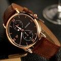 YAZOLE брендовые кварцевые часы для мужчин модные деловые светящиеся водонепроницаемые мужские s часы кожаные часы мужские часы YD355
