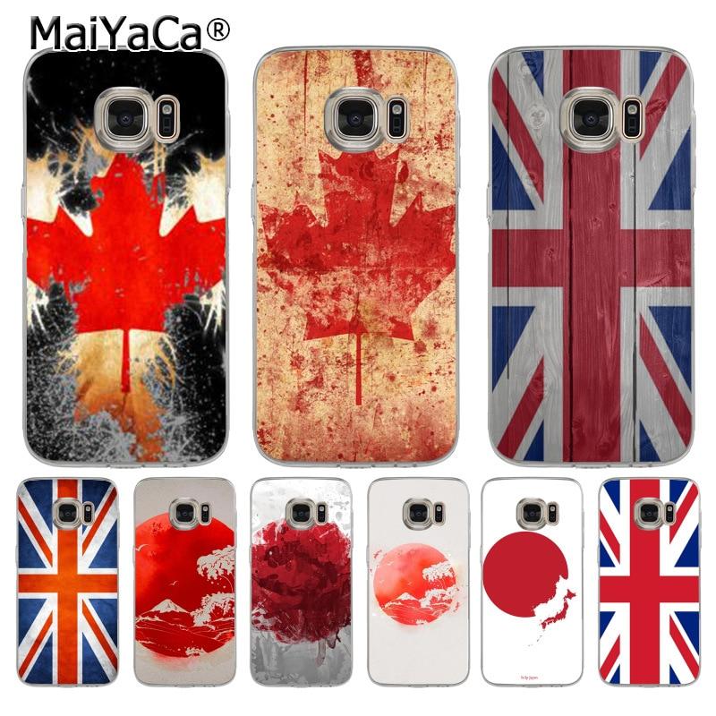 Maiyaca Национальный флаг Канада Австралия Хит продаж кожа тонкая ПК сотовый Чехол для Samsung S5 S6 S7 Edge S8 плюс S6 край плюс S3 S4