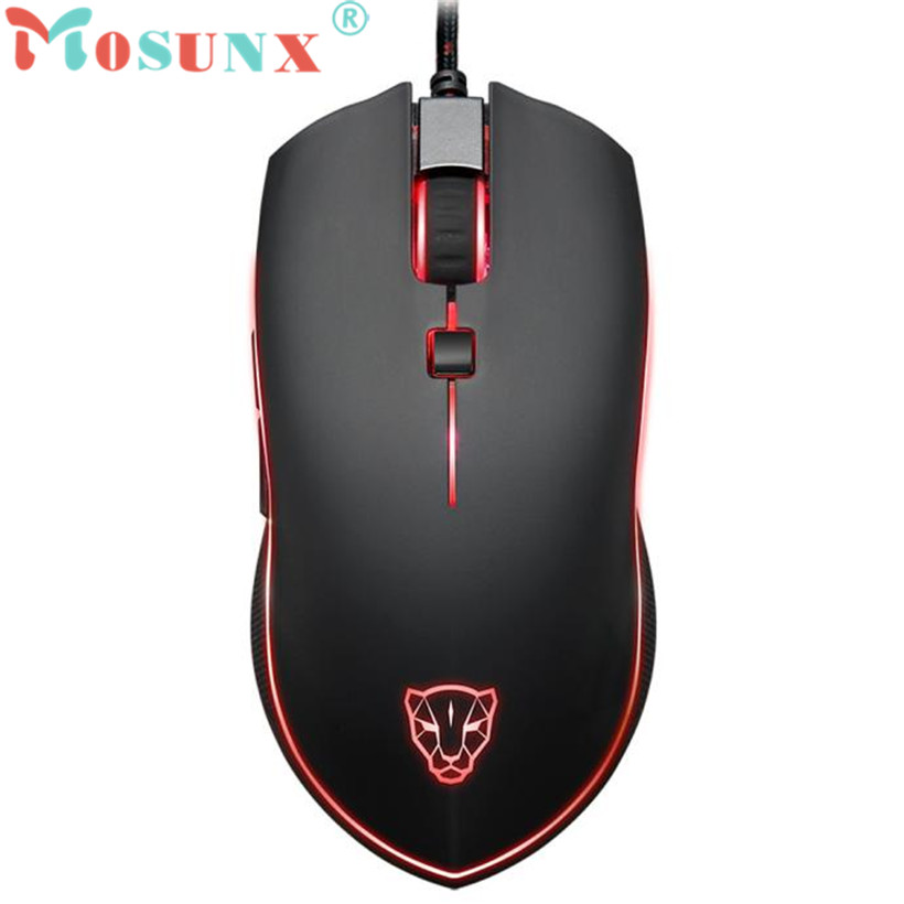 Mosunx Advanced 2018 high quality mini V40 4000 DPI 6 Buttons Breathing LED Optical Wired Gaming Mouse for PC Gamer 1PC