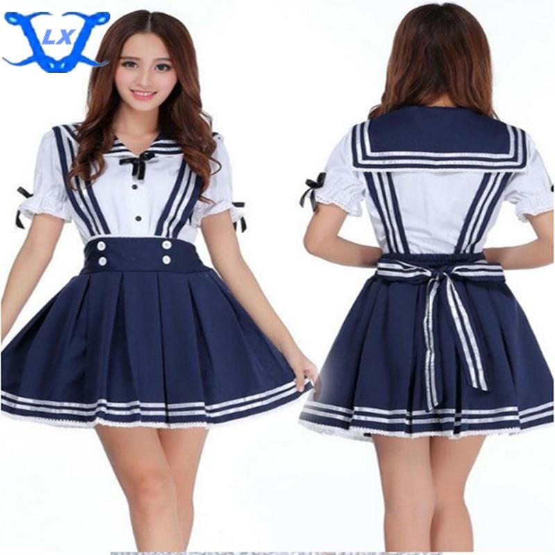 Japonská japonská škola Uniform Cosplay kostým Anime Girl Maid Sailor Lolita šaty