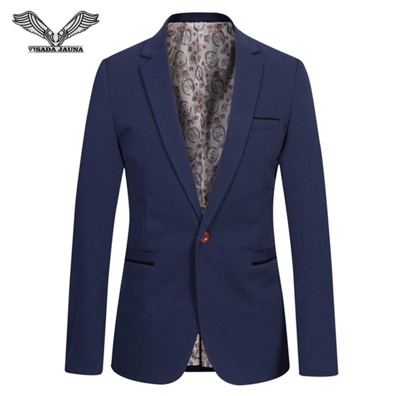 VISADA JAUNA 2017 Men s Fashion Estilo Casual Slim Fit Men s Suits 5XL Plus Size