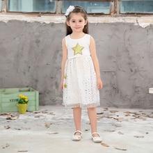 ФОТО baby girl clothes girls dress 2018 summer casual sleeveless dress elegant children clothing kids dresses for girls vestidos tops