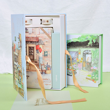 Корейский A5 набор блокнотов Kawaii милый планировщик Органайзер Dokibook персональный дорожный дневник Журнал Блокноты + 6 цветных ручек и ленты
