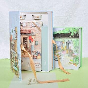Coreano Conjunto Notebook Organizador Planejador Kawaii Bonito Dokibook A5 Cadernos do Jornal Diário de Viagem Pessoal + 6 Canetas Coloridas e fita