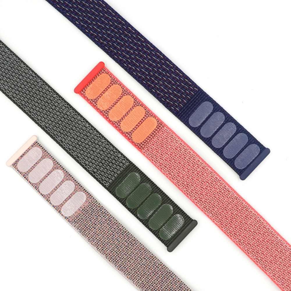 موضة النايلون حزام الساعات ل Iwatch 1/2/3/4 Loopback الفيلكرو الأشرطة تعديل تنفس الرياضة حزام الساعات اكسسوارات