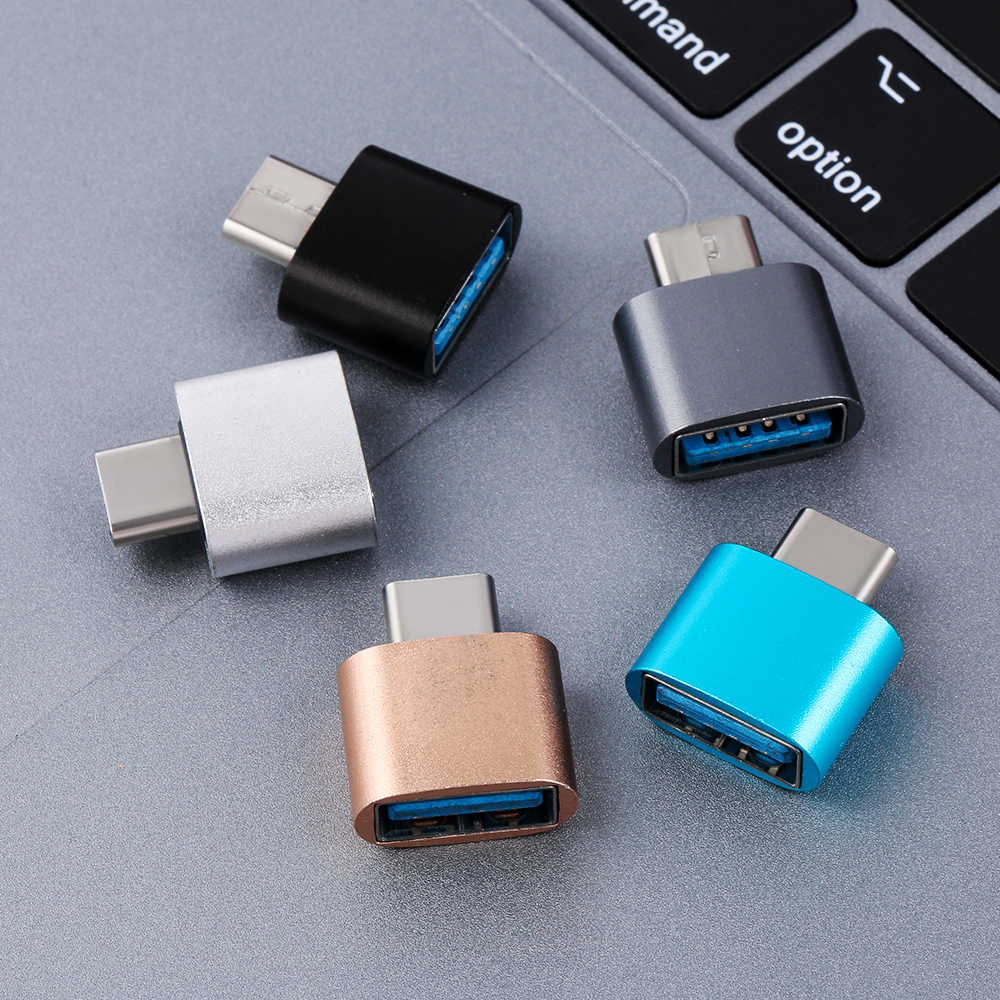1PC Type C to USB 3.0 OTG Converter Metal Male to Female USB-C 3.1  Adapter for Android Smartphones for Xiaomi Huawei