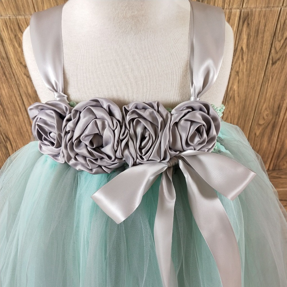 Aliexpress.com : Buy POSH DREAM Mint Green with Grey Flower Girls ...