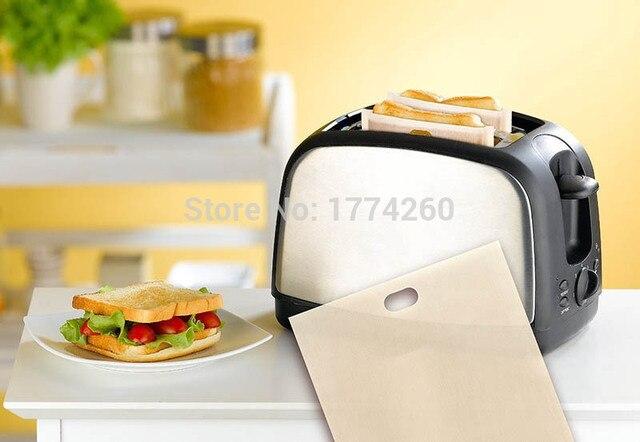 Walnis-sacs à pain antiadhésifs 16*16.5CM | 3 pièces, résistants à la chaleur, sacs pour pain grillé, sacs à pain réutilisable pour micro-ondes