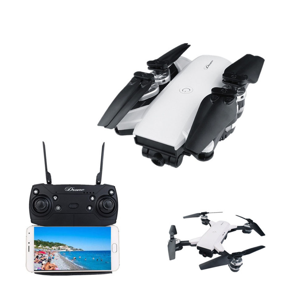 Pieghevole Drone Con HD FPV Macchina Fotografica di WIFI Mantenimento di Quota Pista di Navigazione RC Selfie Drone-Axis RC Helicopter Quadcopter vs XS809