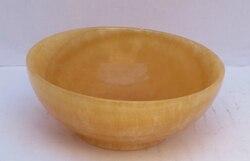 Kolekcjonerska zdobione chiński ręcznie rzeźbione żółty Jade miska 003 szybka wysyłka|Posągi i rzeźby|Dom i ogród -