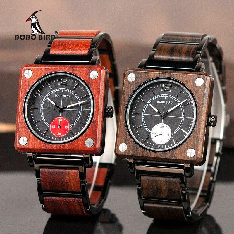 Watches Men Wooden Ladies Wristatches BOBO BIRD Male Women Relogio Feminino Erkek Kol Saati Timepiece In Gift Box