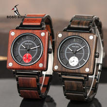 Watches Men Wooden Ladies Wristatches BOBO BIRD Male Women relogio feminino erkek kol saati Timepiece in gift box все цены