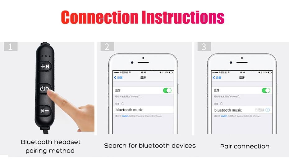 Wireless Headphone Bluetooth Earphone Magnetic Headset Neckband Sport Running Bluetooth Earphones For iPhone 7 X Xiaomi Earphone (9)