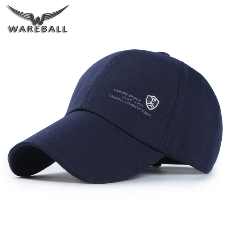 [WAREBALL] New Brand Fashion Baseball Cap for Men Women Canvas Casual Hats for Men Golf Logo snapback casquette bone gorras fashion solid color baseball cap for men and women