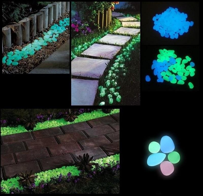 artesanas de decoracin de jardn de luz solar de piedra luminosa glow in the dark pebbles