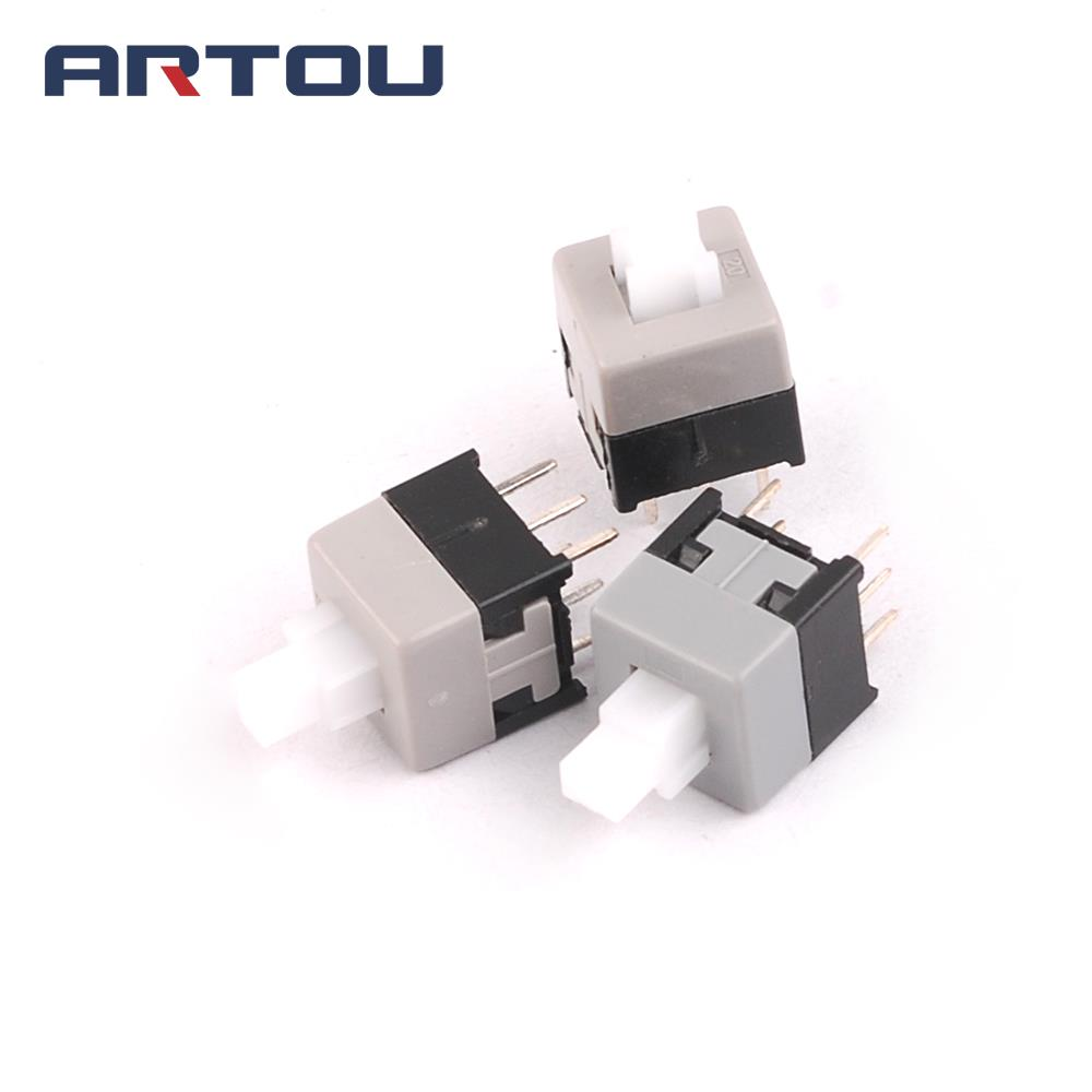 20PCS 8.5mm X 8.5mm Push Tactile Power Micro Switch Self Lock On/off Button