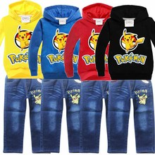 children pokemon go hoodies and kids sweatshirts sets t-shirts for girls tops and blouse boys clothes tshirt clothing costume