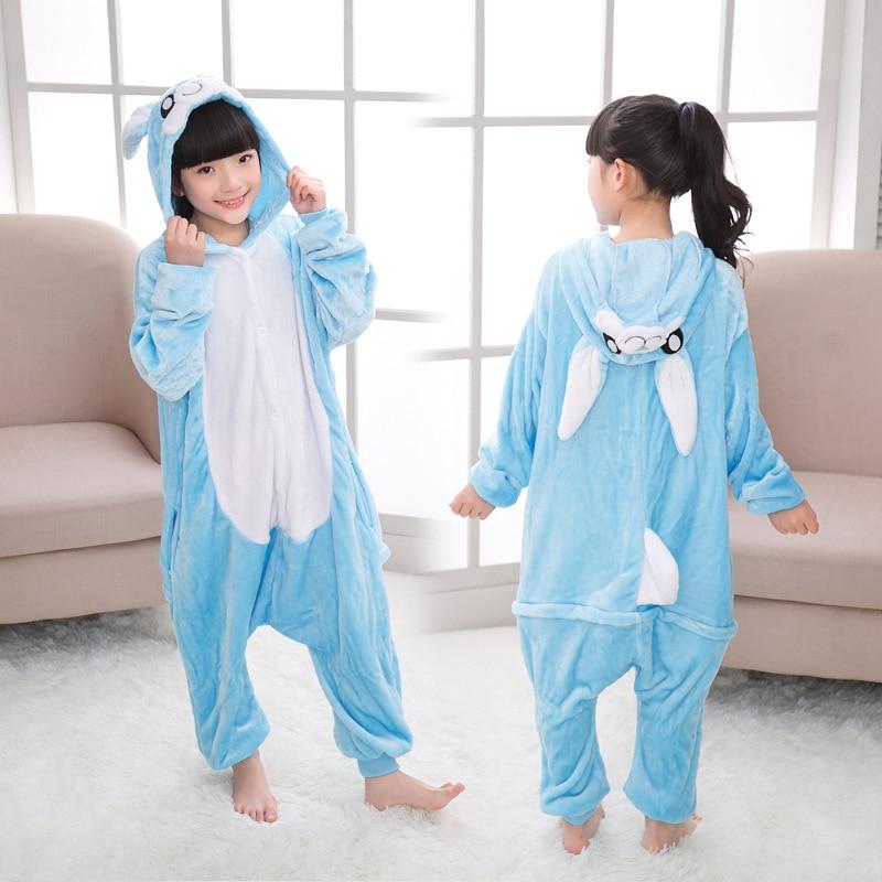 Vente chaude Flanelle Hiver Enfants Pyjamas Licorne Pyjamas Animaux de Bande Dessinée vêtements de Nuit À Capuche Pour Garçons Et Filles