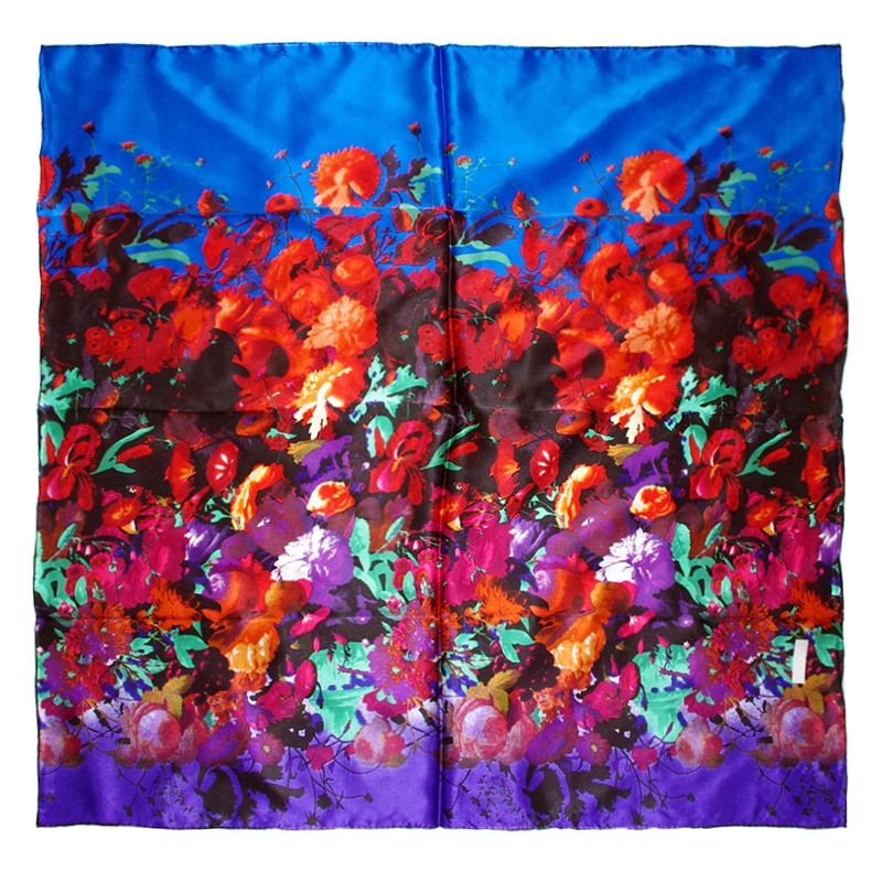 fashion high quality 100 silk scarf flower scarves square size 90cm x 90cm headscarfs office. Black Bedroom Furniture Sets. Home Design Ideas