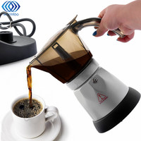 3 Minutes Coffee Maker French Press Cafetiere 4 Cups Electric Fully Automatic Coffee Machine Tea Pot