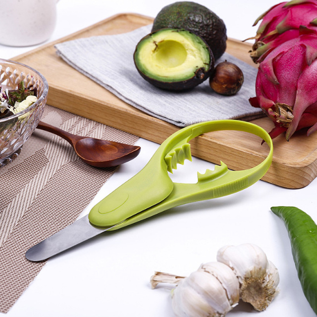 US $2.97 5% OFF|Multifunctional Shea knife Avocado Slicer Stainless steel  Fruit Cutter Knife Corer Pulp Separator Useful Kitchen Gadgets-in Corers ...
