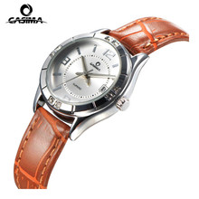 CASIMA Women Luxury Brand Clock Ladies Fashion Stainless Steel Leather Quartz Wrist Watch Lady Leisure Watches Womens Wristwatch