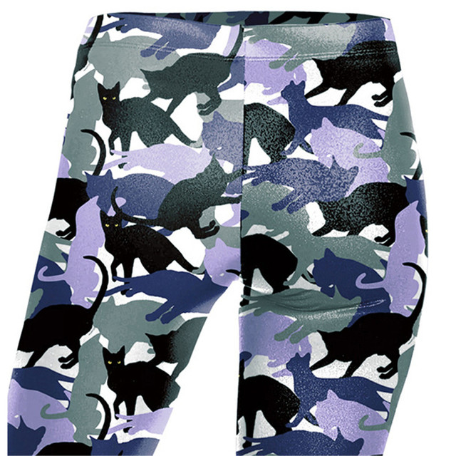 Cat Camouflage Print Leggings
