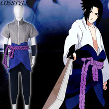 Más nuevo 6th Generation ropa para hombres japonés Anime Naruto Shippuden  ropa Uchiha Sasuke Cosplay trajes a6fd64ecf95b