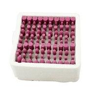 100 Pcs Box Assorted Ceramic Mounted Point Grinding Stone Head Wheel Dremel Drill Rotary Tools